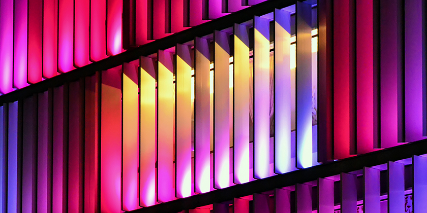 brightly coloured window shutters