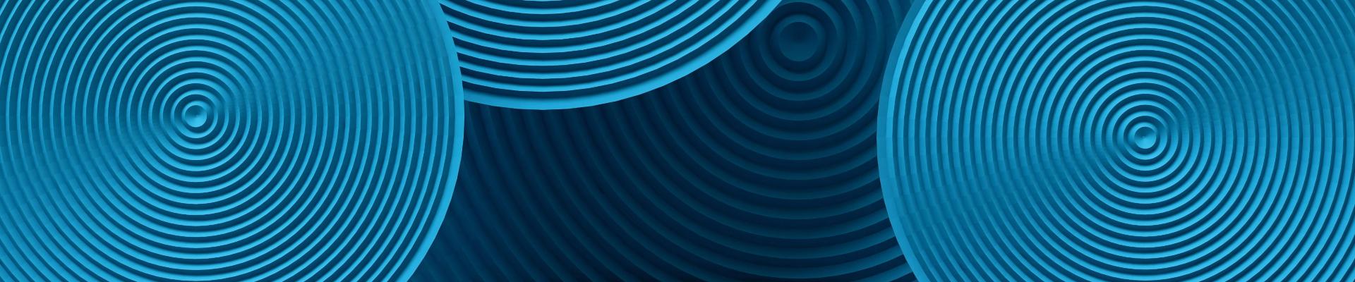 3d blue circular objects