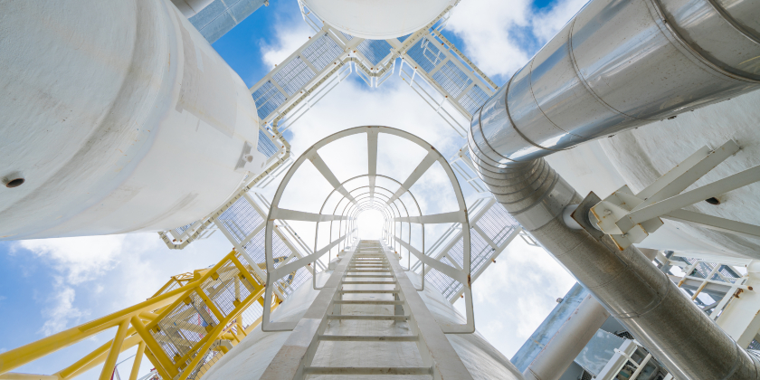 Offshore oil and gas process