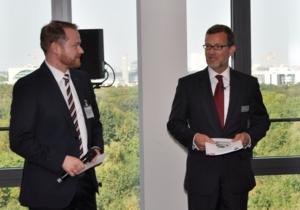 Alexander Claus, Forum ElektroMobilität e.V.; Dr. Gerd Leutner,Partner CMS Hasche Sigle (v.l.n.r.)