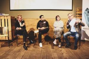 v.l.n.r.Dr. Martin Gerecke, CMS in Hamburg;Philipp John, ReachHero;Vreni Frost, Influencerin;Thomas Fuchs, Landesmedienanstalt HSH