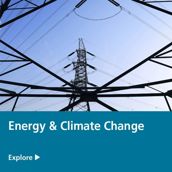 energy & climate change expertise tile