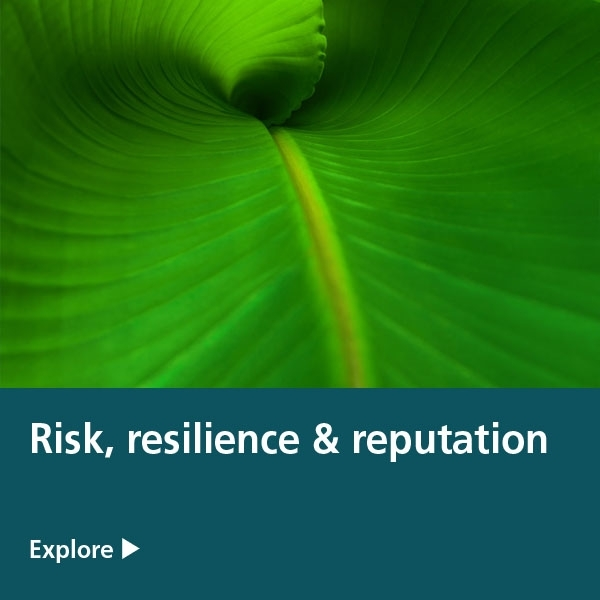 risk resilience reputation tile - banana leaf
