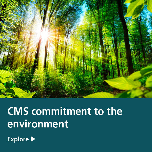 CMS commitment to the environment tile
