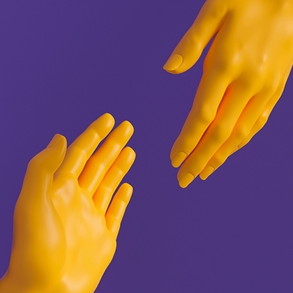 Two hands joining in a handshake: фотография