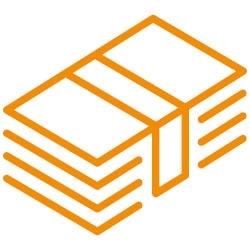 orange banknotes