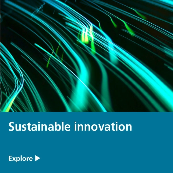 sustainable innovation - green blue lights