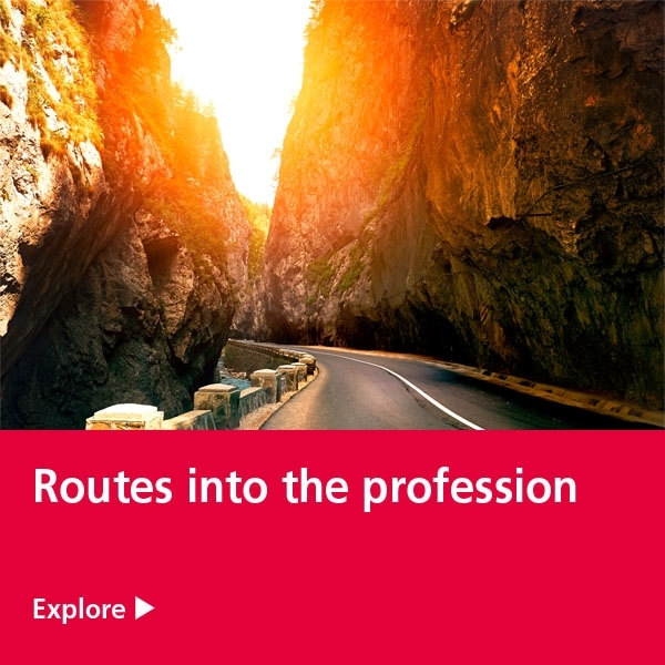 routes into the profession tile