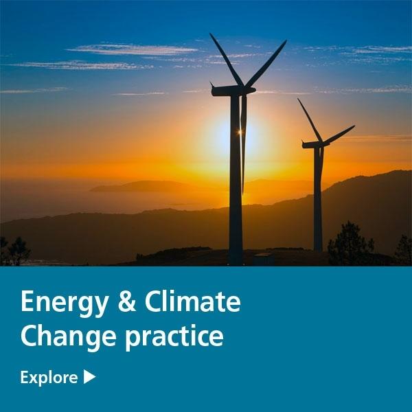 energy & climate change practice tile - wind farm