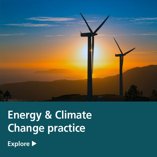 energy & climate change practice tile - wind farm
