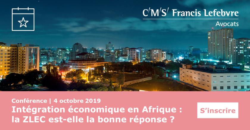 conférence afrique zlec 2019