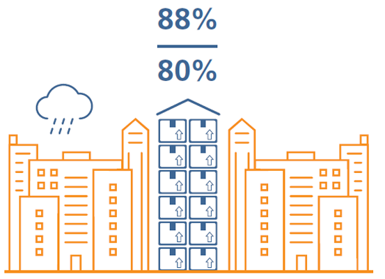 Pictogram of office buildings
