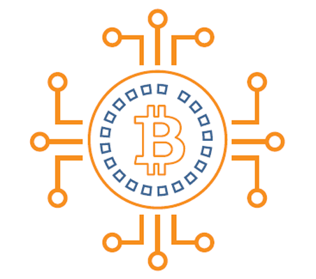Pictogram of bitcoin