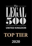 Legal 500 UK Top Tier 2020
