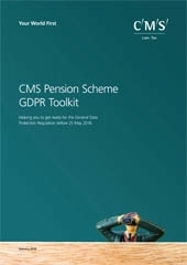 GDPR pension scheme toolkit brochure cover