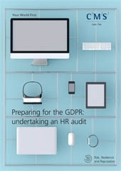 GDPR preparing for an HR audit brochure cover