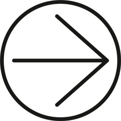 Pictogram of an arrow pointing right