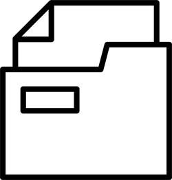 Pictogram of a document folder