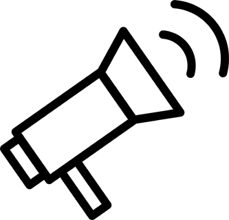 pictogram of a megaphone