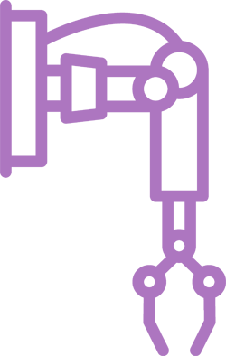 purple robotic arm