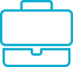 Pictogram - turquoise briefcase