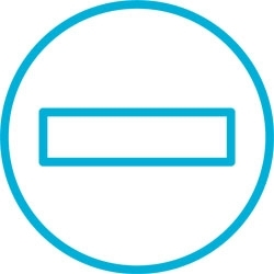 Pictogram - turquoise no entry sign