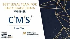 UKBAA Awards 2019 Best Legal Team For Early Stage Deals 300x169