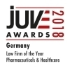 JUVE Award 2018 - Pharmaceuticals and Healthcare