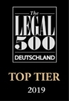 Legal500 Deutschland Top Tier 2019