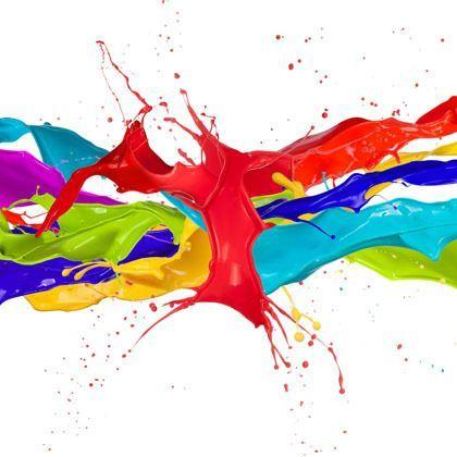 multicoloured colour splash