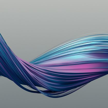 twist of blue and purple fibres