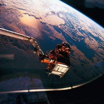 earth viewed from the space shuttle