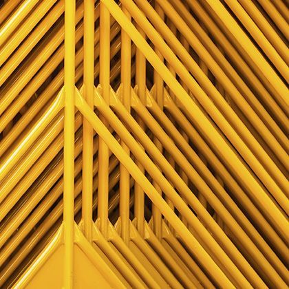 geometric yellow pipes structure
