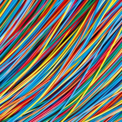 colourful cables as global network connection