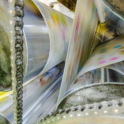 photograph of printing machine, hit set speed roto offset print press