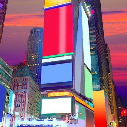 New York Times Square advertising boards