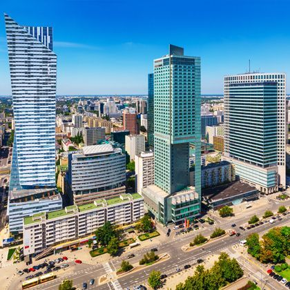 Polish Desk, Warsaw Business District