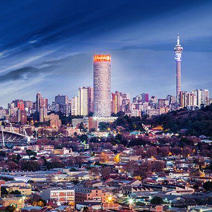 Johannesburg evening panorama