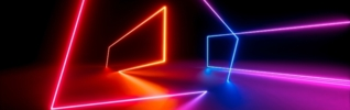 Abstract neon geometric background