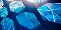abstract hexagonal wall