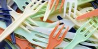 coloured plastic forks