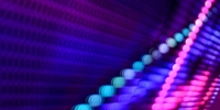 blue pink and purple led lights